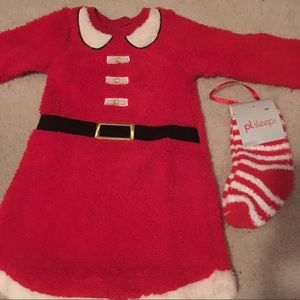 NWT Girl's Christmas outfit with matching socks